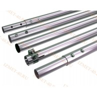 Мачта алюминиевая составная, диаметр 35мм, колено 1,5м, ДЛИНА 7,5м