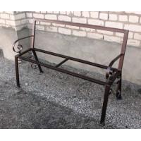 Каркас скамейки со спинкой и подлокотниками