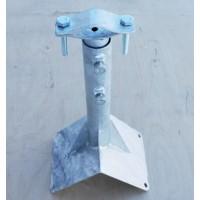 Кронштейн телескоп для мачт 30/50 угловой оцинкованный